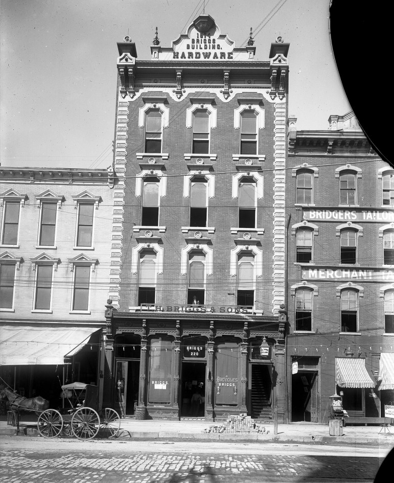 Briggs Hardware around 1910. The building remains today, now operating as the Raleigh City Museum.