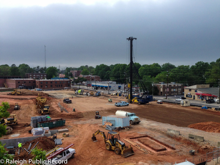 The site of a future apartment complex on Hilsborough Street