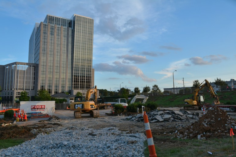 Work has begun at the site of North Hills Tower II