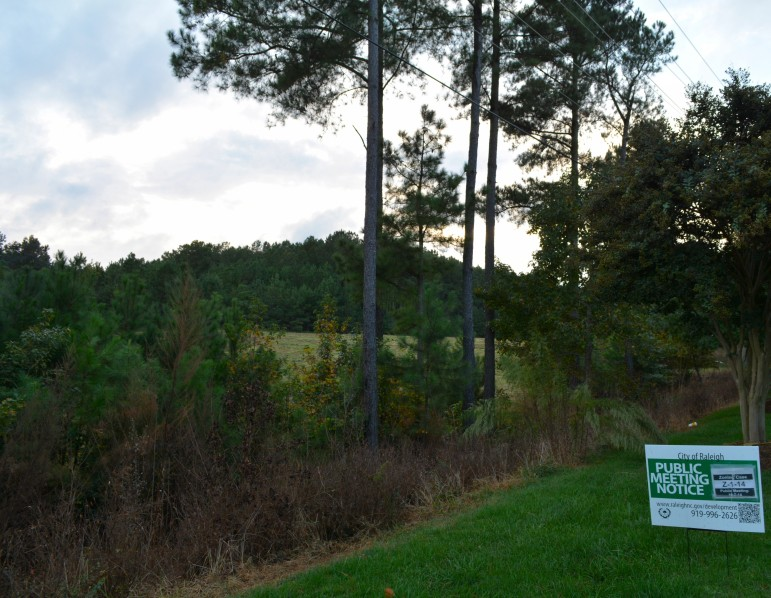 The controversial site of a new development off Falls of Neuse