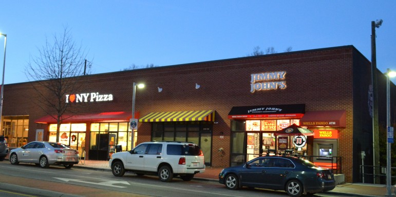 The former Dunkin Donuts, to the left of the Jimmy John's, will soon be home to Freshii
