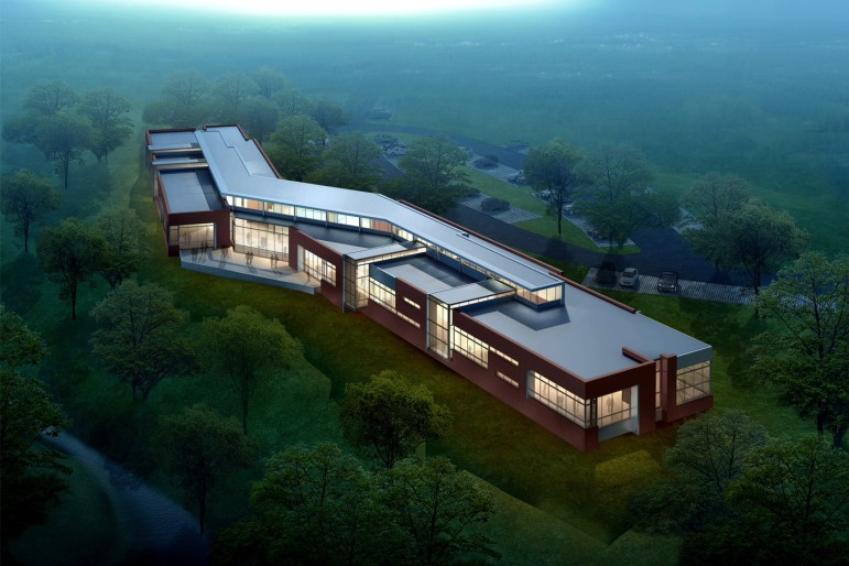 A rendering of the Northeast Library. Image provided by Wake County.