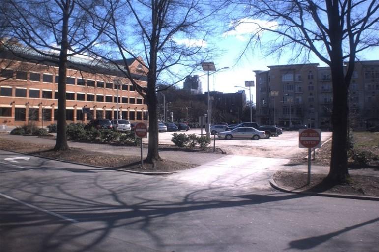 301 Hillsborough today serves as a parking lot