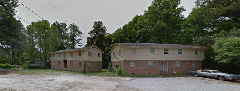 These former apartment buildings will soon be torn down