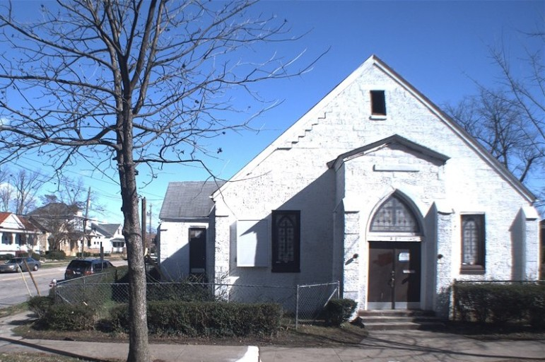A photo of the former Seventh Day Adventist Church in 2013