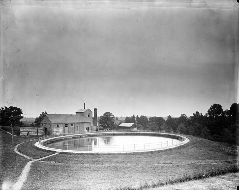 A photo of an early water reservoir