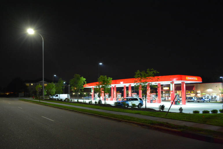 This Sheetz on Green Road is located next to an apartment complex