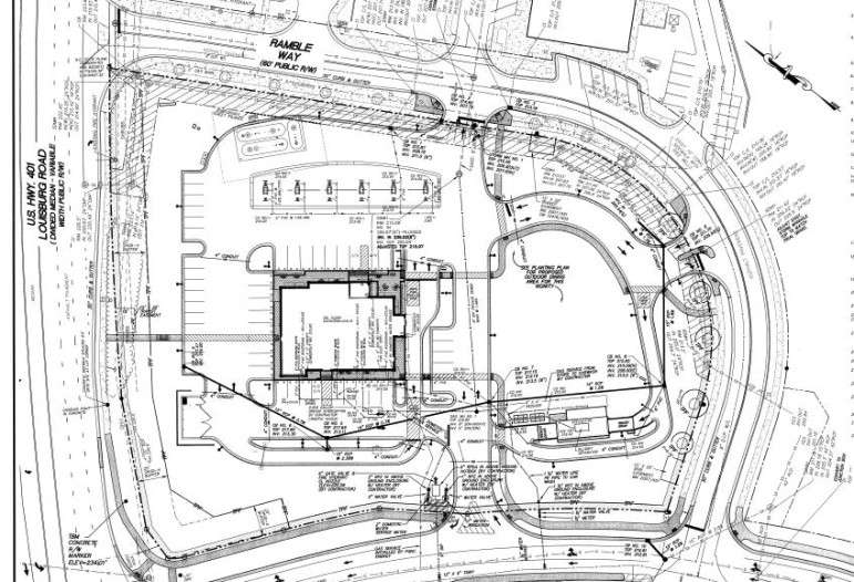 The site plan for the new Sheetz