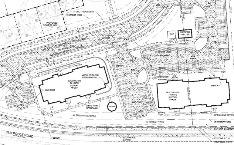 Site plan drawings for Sycamore Run