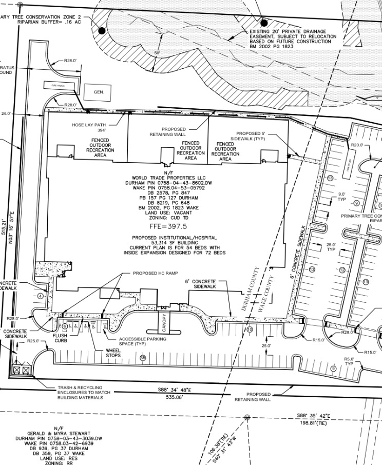 Site plans for Triangle Springs
