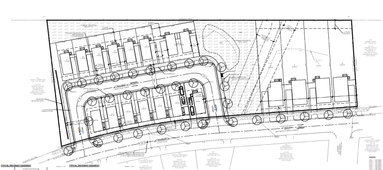 Site plan drawings for 1335 Courtland