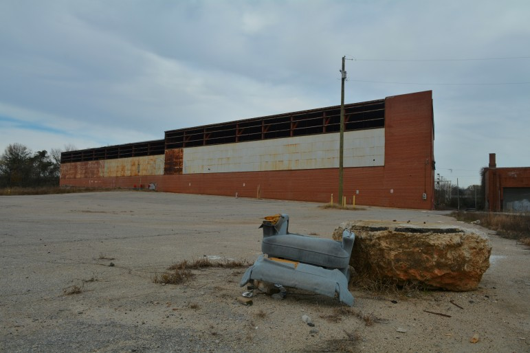 This warehouse is scheduled for partial demolition