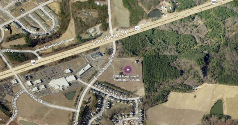 The possible site of a new affordable housing development