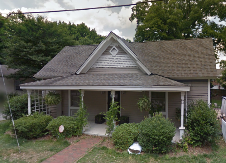 This house, first built in 1909, is one of the many historic homes in the district