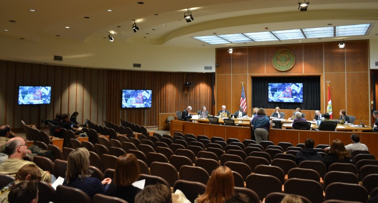 The new screens on display in Council chambers
