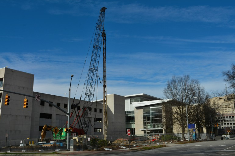 Work is underway on a new Residence Inn hotel in downtown Raleigh