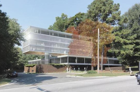 This proposal for 3515 Glenwood was drawn up in 2013 by the firm of Kenneth Hobgood Design