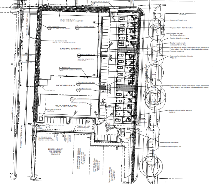 Site plan drawings for Stone's