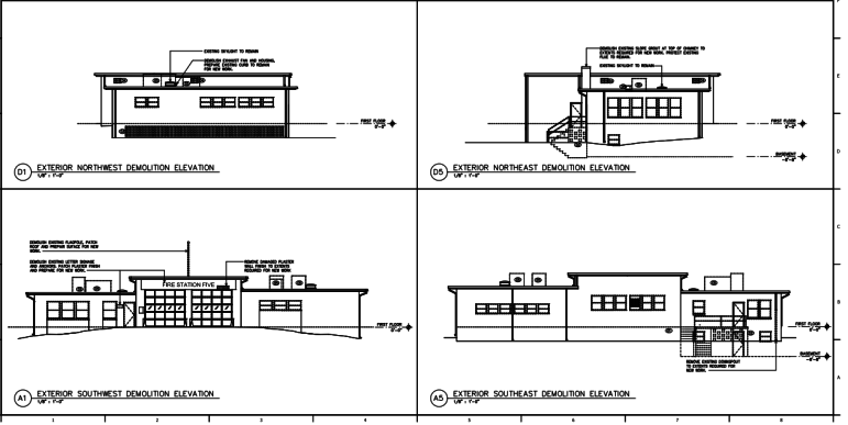 Plans for the renovation of Fire Station No. 5