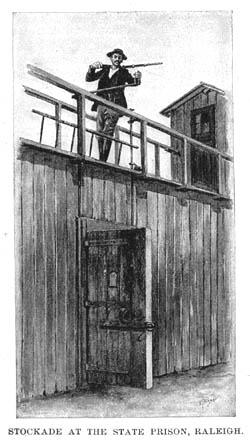 The original wooden stockades