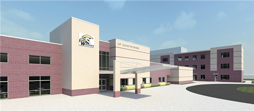 A rendering of the new Rogers Lane Elementary school