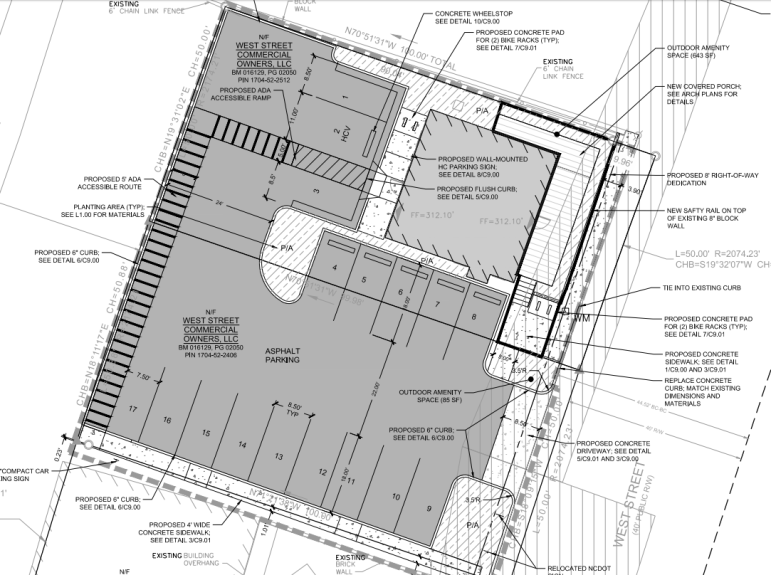 Site plans for the new Cardinal Bar
