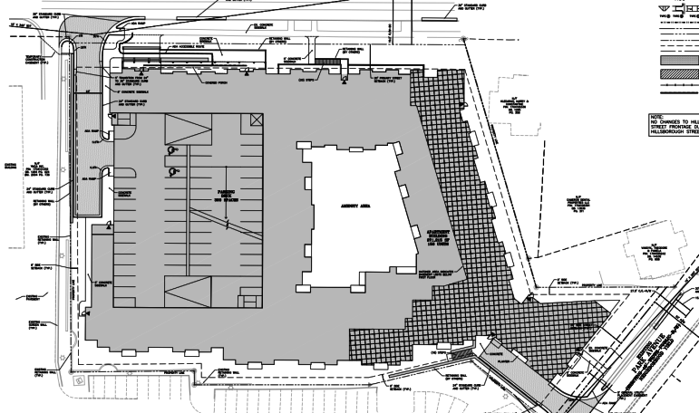 Site plans for the new Hillsborough Apartments