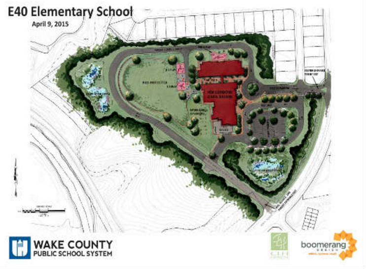 Site plans for the new school