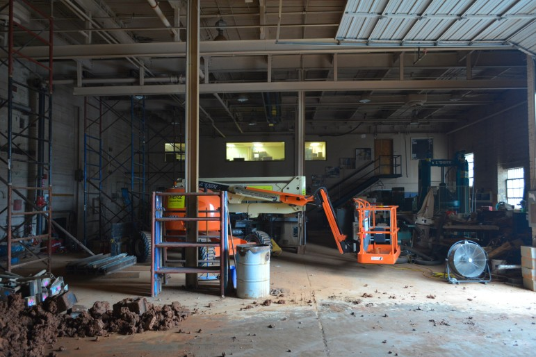 The warehouse behind and beneath Boylan Bridge Brewpub