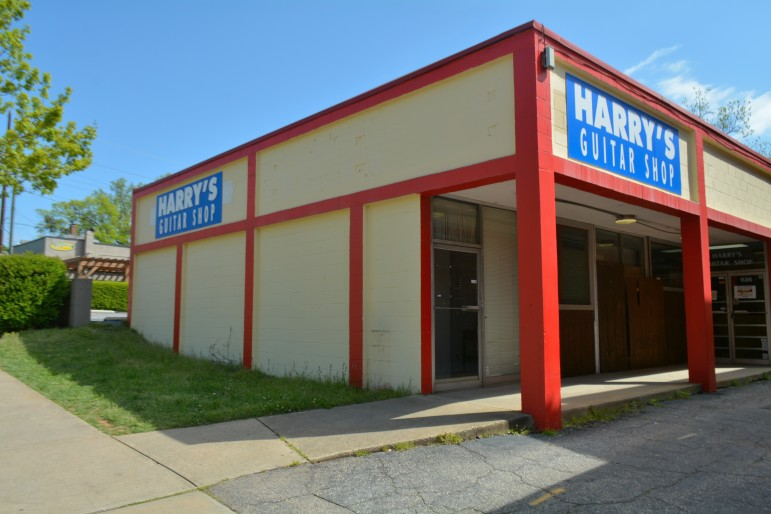 The former home of Harry's Guitar Shop on Glenwood