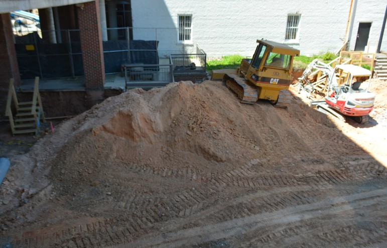 Sitework continues at Moore Square