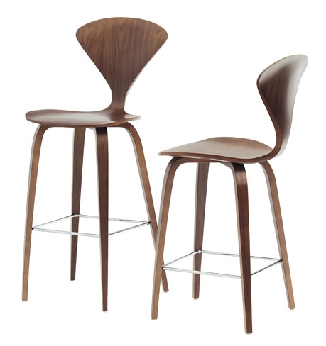 These barstools from the Cherner Chair Company are lovely
