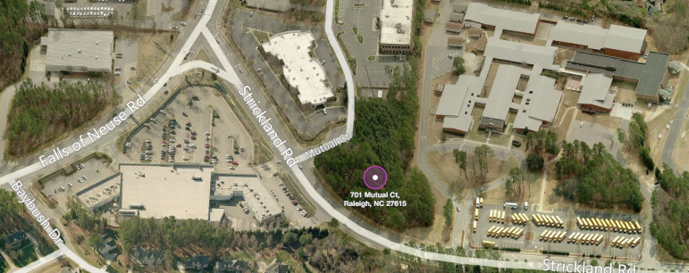 The purple dot is roughly where the bank will be located.