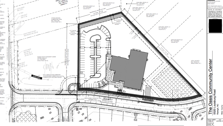 Site plans for the community center