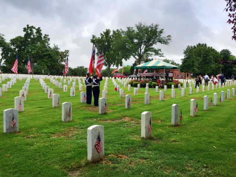 A Memorial Day ceremony was held Sunday