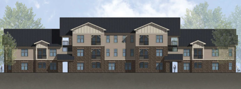 A rendering of the Foxwood Luxury Apartments