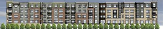 A generic four-story apartment complex, not associated with this project