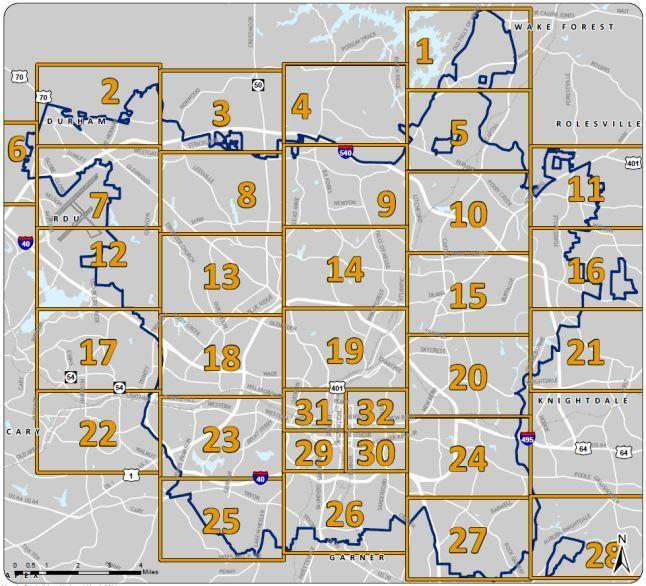 The city broke down its remapping into 32 detailed areas