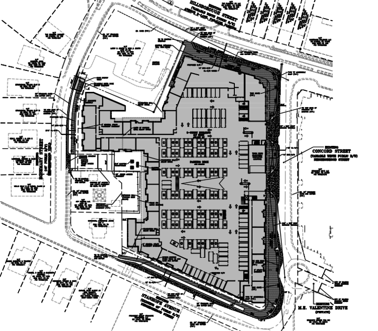 Site plans for The Standard