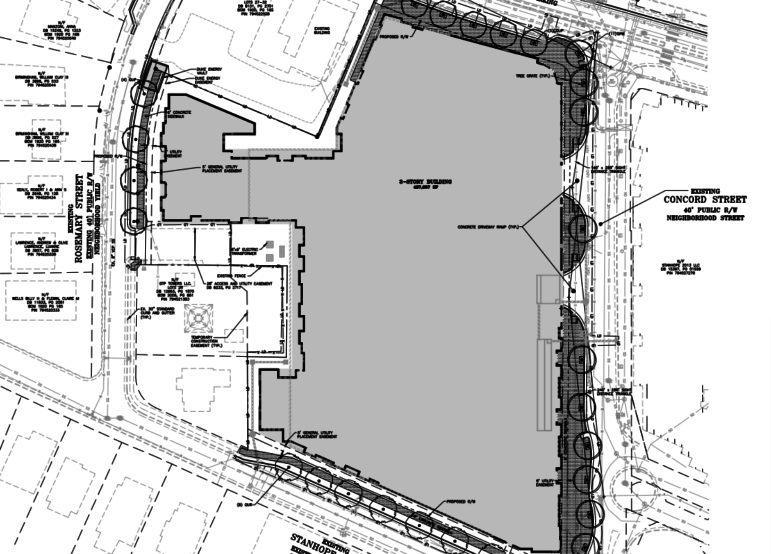 Site plans for The Standard, which will offer its residents access to City utilities
