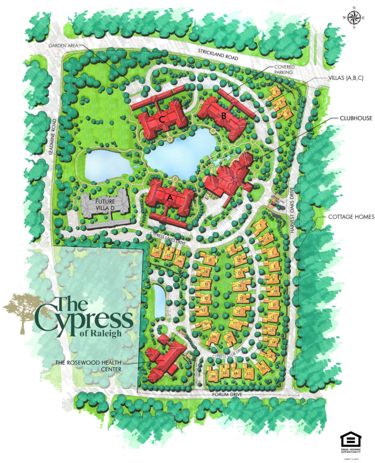 The site plan for Cypress