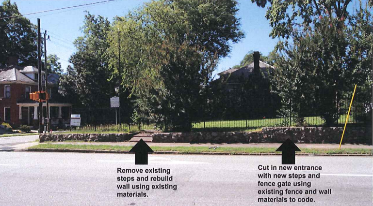 Some of the proposed exterior improvements for the site