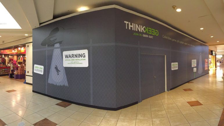 The new ThinkGeek location at the Crabtree Valley Mall