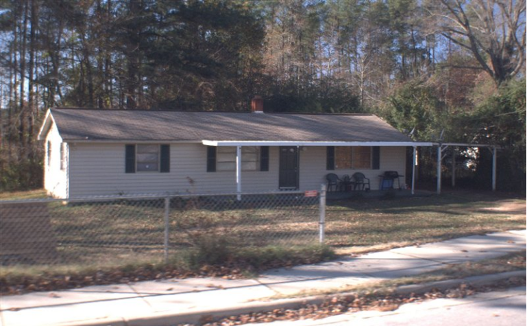 The existing single-family home