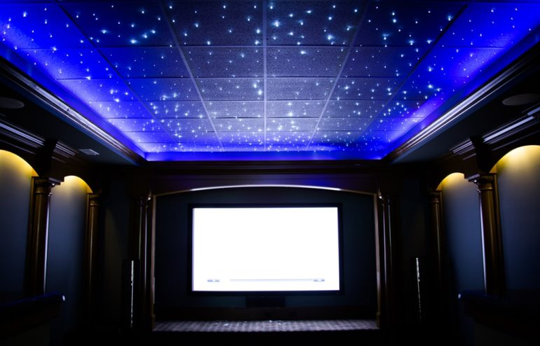 The home theater at The Regency