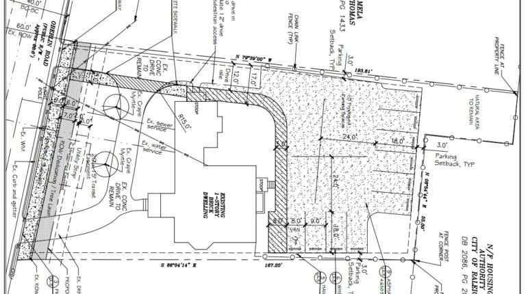 Site plans for 1019 Oberlin