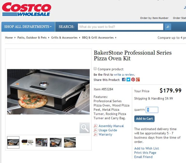 Costco already sells pizza ovens; soon, they will have one of their own
