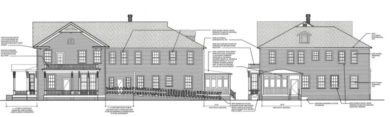 Architectural drawings for the restoration of the Norris-Heartt House