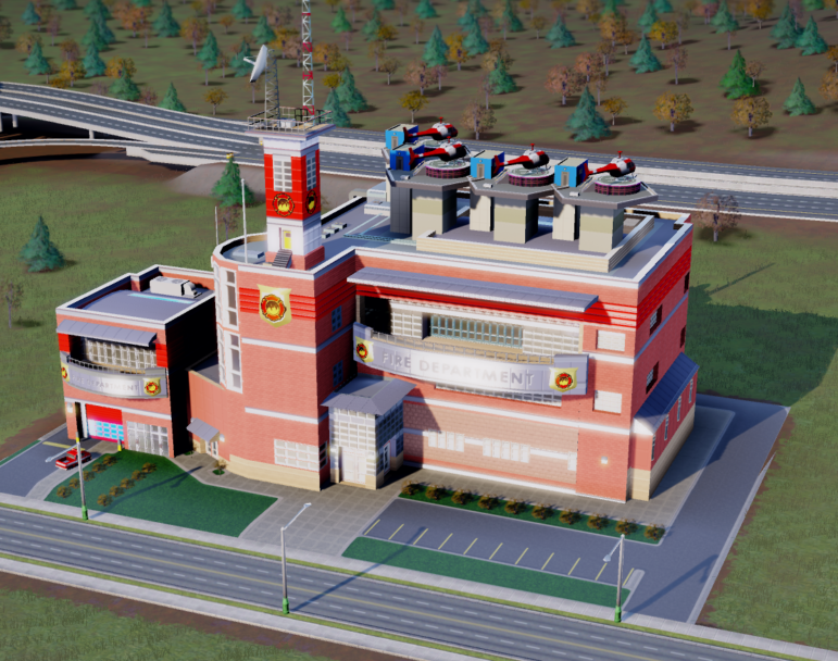 If we're lucky, the new fire station will resemble this one from Sim City